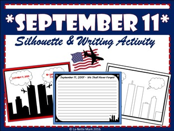 September 11 - Silhouette and Writing Activity