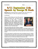 September 11 - Speech Analysis by George W. Bush - Questions with Key (9/11)