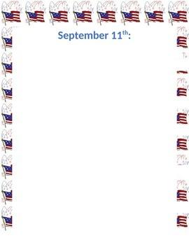 September 11 Writing Assignment 9/11