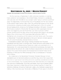 September 11 history reading and questions 9/11