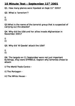 September 11th 10 Minute Test