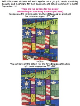 September 11th Collaboration Poster {Patriot Day, September 11, 9/11}
