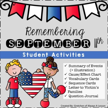 September 11 Activities Packet  (9-11, September 11th)