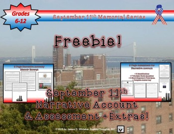September 11th 9/11 Documentary Bundle Assessments and Resources