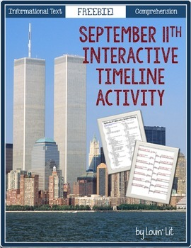 September 11th {9/11} Interactive Timeline Activity ~ Reading for Grades 4-8