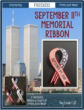 September 11th {9/11} Memorial Ribbon Craftivity ~ Free!