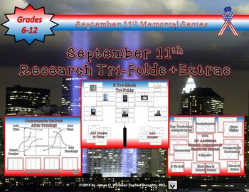September 11th 9/11 Research Tri-Folds and Activities