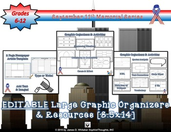 September 11th 9/11 Resource and Activities Bundle