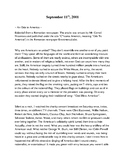 September 11th ~ An Ode to American ~ Journal Article