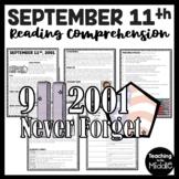 September 11th Attacks Informational Text Reading Comprehension Worksheet