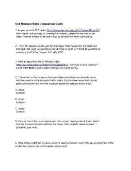 September 11th Bundle: Two Common Core Aligned Activities for English or SS