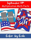 September 11th Color By Code Multiplication / Division Mat