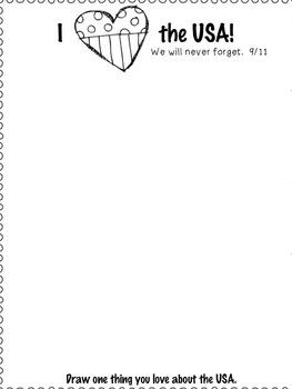 September 11th Drawing Reflection for Kinder