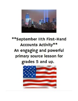 September 11th First-Hand Account Lesson and Activities