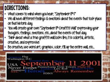 September 11th Graffiti Wall
