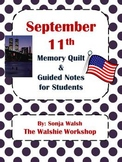 September 11th Guided Notes & Activity for Grades 2,3,4 (The Walshie Workshop)