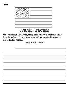 September 11th Hero Writing Prompt