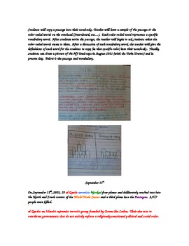 September 11th Interactive Notebook Unit Plan: Close Read and Internet Sources