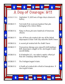 September 11th Patriot Day Choral Reading Reader's Theater Script