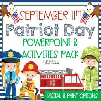 September 11 - Patriot Day - Power Point Lesson & Activities Pack!