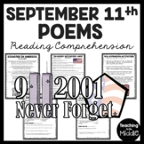 September 11th Poems Reading Comprehension & Extension Activities