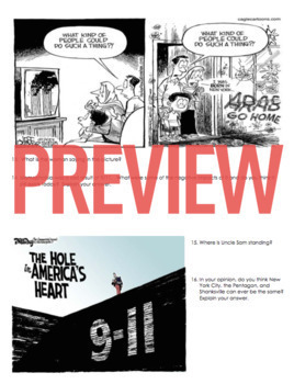 September 11th Political Cartoons Worksheet