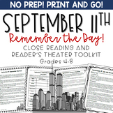 September 11th Reader's Theater and Close Reading Toolkit Grades 4-8