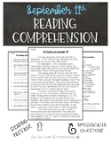 September 11th Reading Comprehension