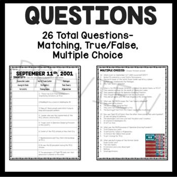 September 11th Reading Comprehension Bundle; September; Poetry