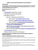 September 11th Rotation Activities, Genre Focus