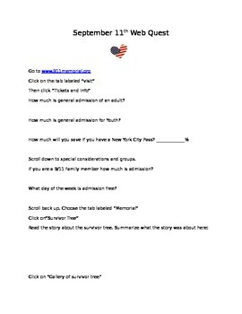 September 11th Web Quest
