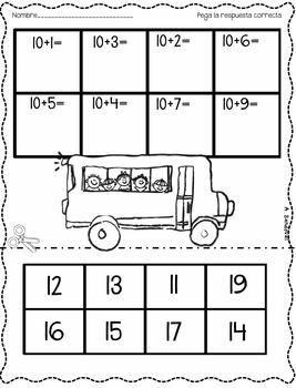 September 1st Grade Math Practice in Spanish