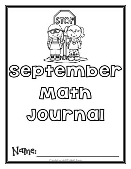 September 1st Math Journal