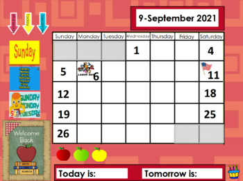 August/September 2017 Calendar Math for the Promethean Board (activBoard)
