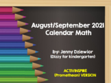 August/September 2018 Calendar Math for the Promethean Board (activBoard)