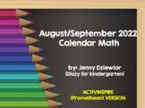 August/September 2019 Calendar Math for the Promethean Board (activBoard)