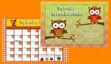 September 1st Grade Calendar for ActivBoard