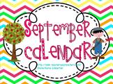 September 2016 Kindergarten ActivInspire Calendar