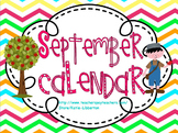 September Kindergarten ActivInspire Calendar
