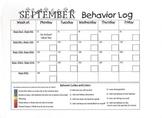 September  2013 Behavior Log
