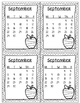 September 2014 Homework Chart