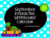 September 2017 Interactive Whiteboard Calendar