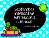 September 2018 Interactive Whiteboard Calendar