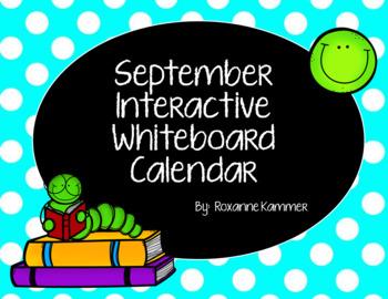 September 2016 Interactive Whiteboard Calendar