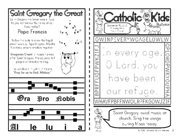 September 2016 Catholic Kids Bulletins: Weekly Mass Activity Pages