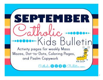 September 2016 Catholic Kids Bulletins: Weekly Mass Activi