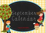 September First Grade ActivInspire Calendar & More