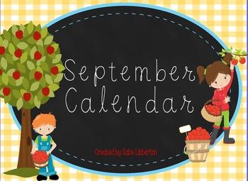 September 2016 First Grade ActivInspire Calendar & More