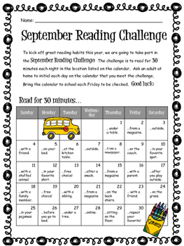 September 2018 Reading Challenge