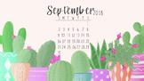 September 2018 Cactus Computer Wallpaper FREEBIE